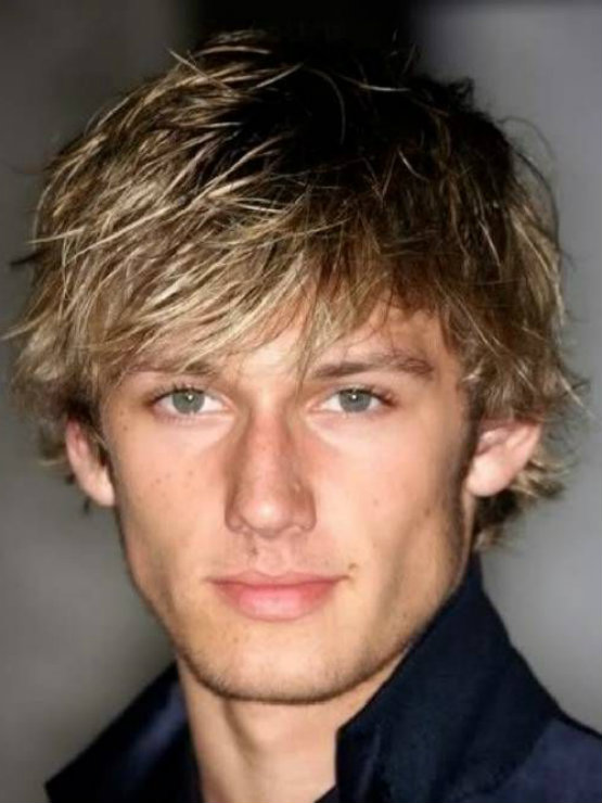 Blonde Medium Messy Hairstyles For Teen Male Latest Hair