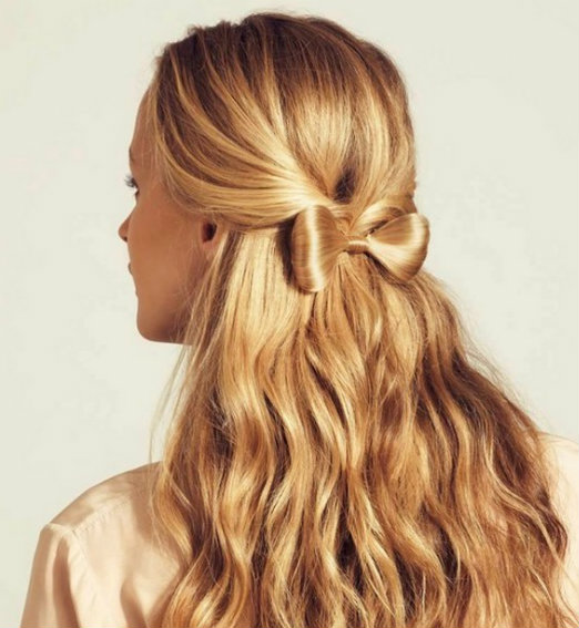 Cool Hairstyle For Girls With Hair Bow Styles