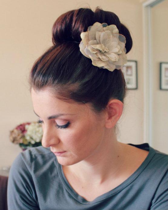 Cute hairstyles for high school- big ballerina bun