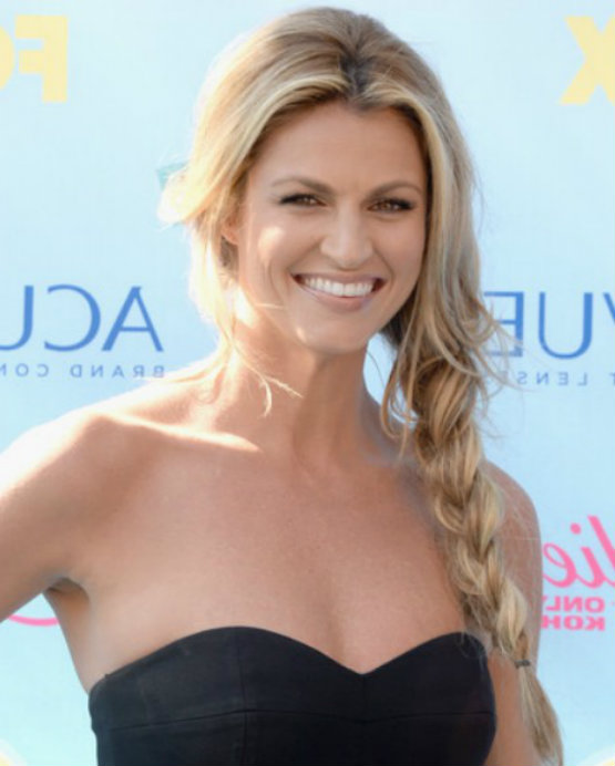 Erin Andrews Side Braid for cute thick hairstyles