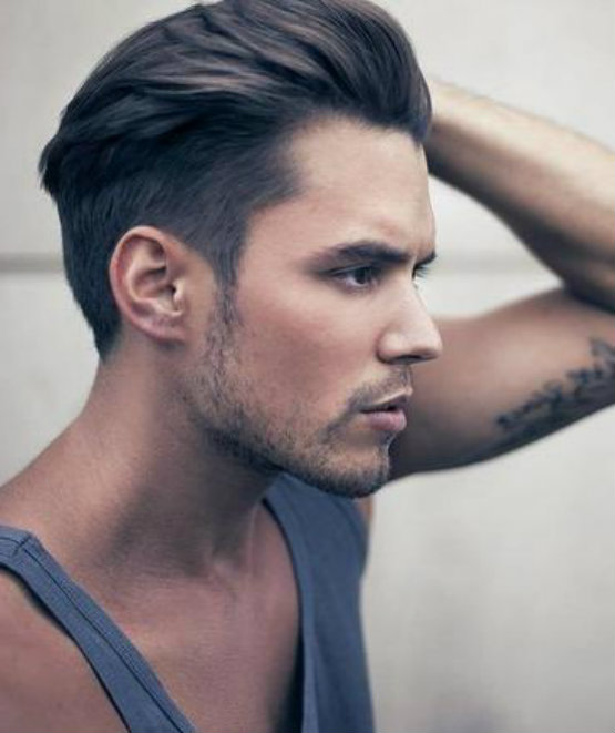 Latest 2015 Hairstyles For Men Swept Up And Slicked Back