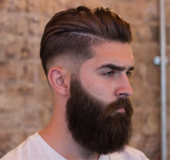 Sexy slicked back hairstyles for men with facial hair