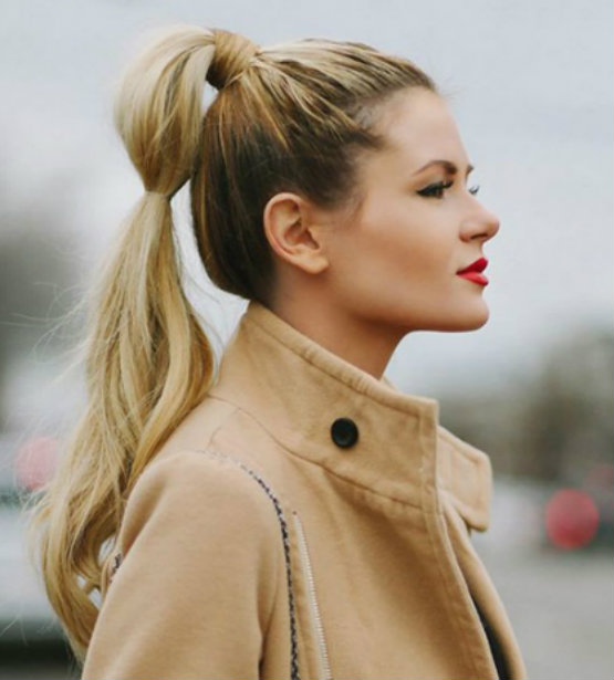 Great Twisted Classic Ponytail Is One Of Easy School Hairstyles For Long Hair