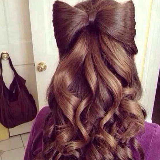 Vintage hairbow hairstyles for different looks