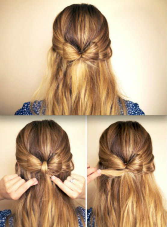 easy bow Styles hairstyles ideas