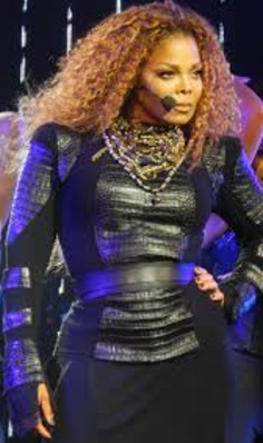 Janet Jackson Big, blonde curls 1