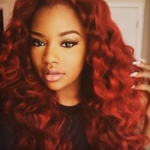Auburn hair Color for Black women 6