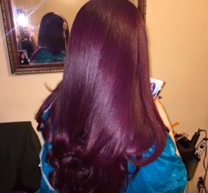 Auburn hair Color for Black women 7