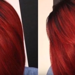 Auburn hair Color for Black women 9 - dark red auburn striaght hair